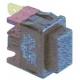 TIQ77054-POUSSOIR 19X13MM NOIR 1POLE 250V 16A