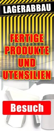 Ausverkauf Fertigprodukte und Utensilien