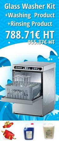 KIT DISH GLASS BASKET 35X35CM COM PRODUTO DE LAVAGEM E PRODUTO DE ENXAGUARDURA