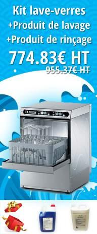 Kit Lave verres + produit de lavage + produit de rinçage