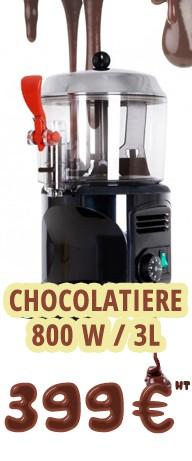 CHOCOLATIERE 800W 3L L:240MM PROF:290MM H:410MM CONSERVATION DU CHOCOLAT 24H